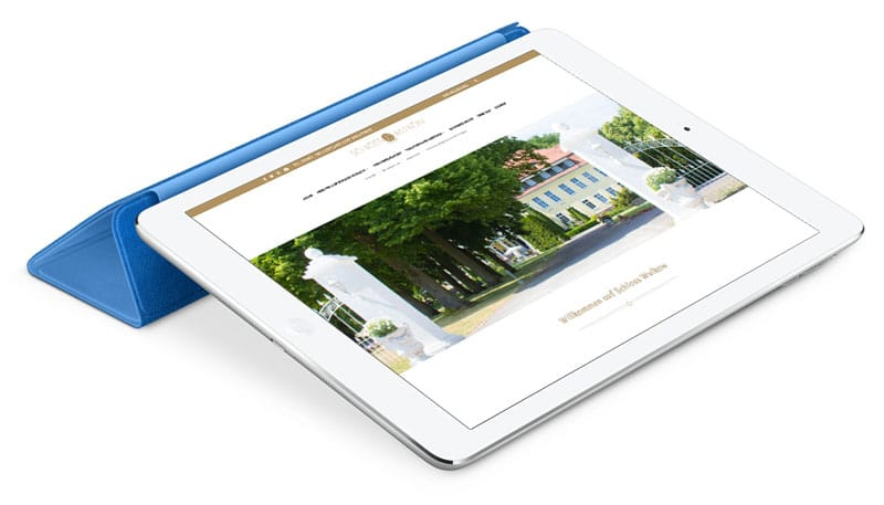 Internetseite Relaunch Schloss Wulkow