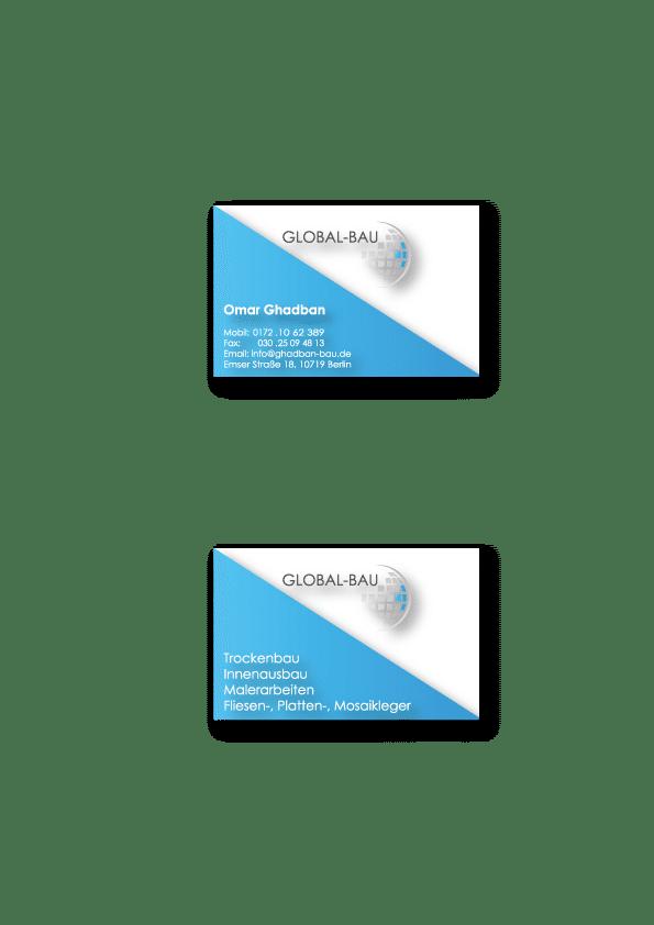 Geschäftsiusstattung und Logoentwicklung für ein Bauunternehmen. mediaagentur-in.berlin
