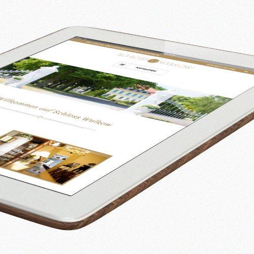 Internetseite für das Hotel Schloss Wulkow durch die mediaagentur-in.berlin