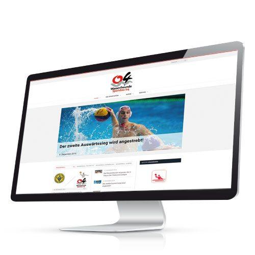 Web-Konzept für die Wasserfreunde Spandau 04 durch die mediaagentur-in.berlin